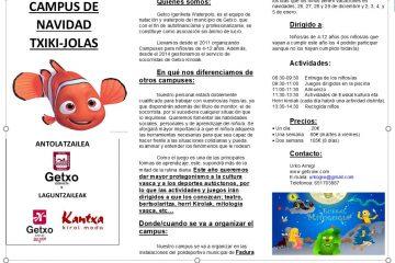 CAMPUS TXIKI-JOLAS DE NAVIDAD